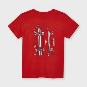 Tricou rosu pentru baiat din bumbac Mayoral