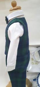 Trusou pentru botez de baietel cu carouri verzi