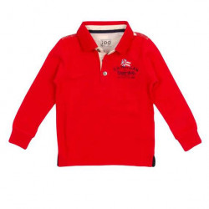 Bluză polo de baieți roșie din bumbac, iDO