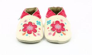 Botosi din piele bebe, Robeez, floare