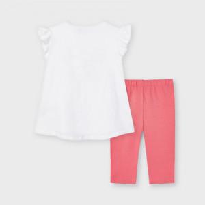 Costum de fetite cu colant si tricou Mayoral