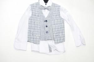 Costum elegant cu vestă pentru baieți