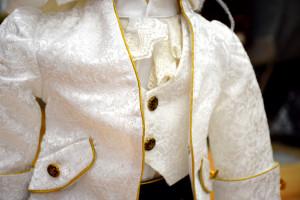 Costum print de catifea