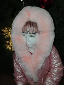 Geacă roz cu blăniță pentru fete, 4-12 ani
