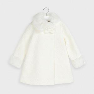 Palton roz buclat de fetita Mayoral