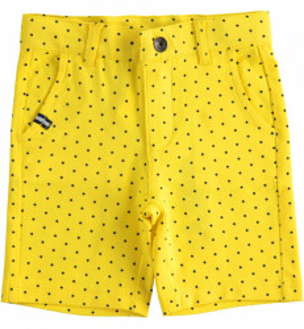 Pantalon galben de baieti din bumbac IDO