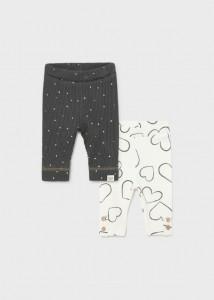 Pantaloni leggings cu imprimeu pentru nou-născut fată, Mayoral