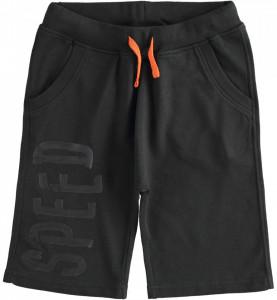 Pantaloni scurti baieti negru pana la genunchi din bumbac