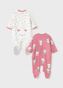 Pijama ECOFRIENDS cu bavetică, pentru nou-născut fat, Mayoral