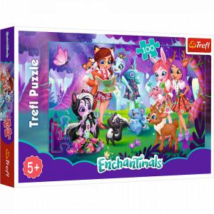 Puzzle Trefl Enchantimals, Distractie cu prietenii 100 piese