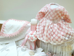 Rochie de botez Annabell cu trusou asortat