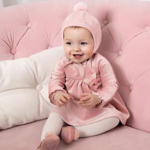 Rochiță pentru bebe fetiță, din catifea, Mayoral