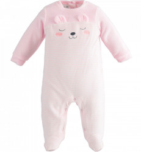Salopeta bebe fetita IDO roz ursulet