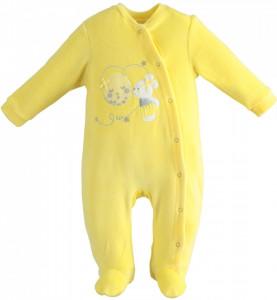 Salopeta Ido bebe nou nascut galbena cocolino