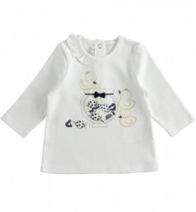 Set din bumbac, cu sarafan și bluziță, pentru bebe fetiță, IDO