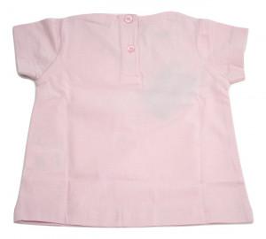 Tricou fete, roz cu strasuri