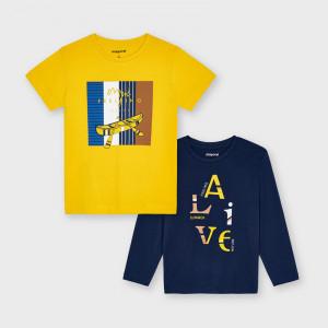 Tricou galben si negru pentru baieti Mayoral