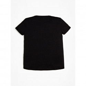 Tricou Guess negru cu geanta in fata