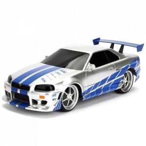 Masina Jada Toys Fast and Furious Nissan Skyline GTR 1:24 cu telecomanda