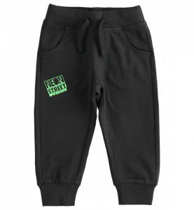 Pantalon negru de trening din bumbac, IDO