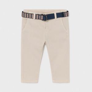 Pantaloni bej din bumbac pentru băieți, Mayoral