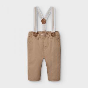 Pantaloni nou nascut baiat cu bretele Mayoral