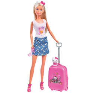 Papușa Simba Steffi Love Hello Kitty Travel 29 cm cu accesorii