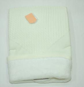 Paturica ivoire tricotata dublat cu blanita