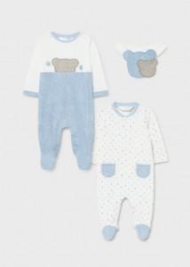 Pijama și bavețică pentru bebe băiat, Mayoral