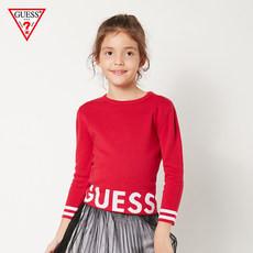Pulover tricotat pentru fete, scurt până în talie, Guess