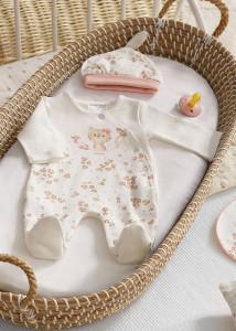 Set ECOFRIENDS body cu bavețică și căciuliță bebe, Mayoral