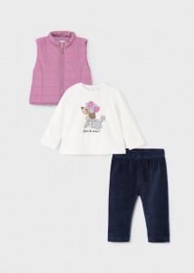 Set leggings cu vestă pentru bebe fată, Mayoral