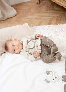 Set pantaloni cu botoșei ECOFRIENDS, tricot nou-născut fata, Mayoral