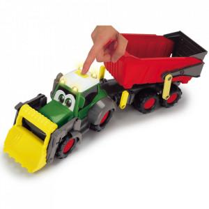Tractor Dickie Toys Happy Farm cu remorca