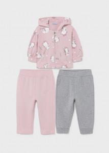 Trening cu 2 pantaloni pentru bebe fată, Mayoral