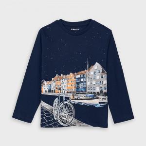 Tricou bleumarin de baieti Mayoral