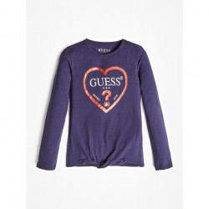 Tricou cu mânecă lungă și cu nod pentru fete, Guess