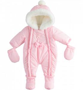 Combinezon bebe fetita roz IDO