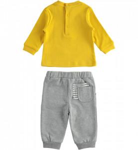 Costum baiat IDO din bumbac cu bluza si pantalon