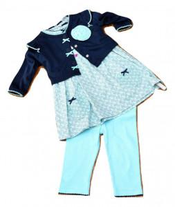 Costum fata, 3 piese din bumbac