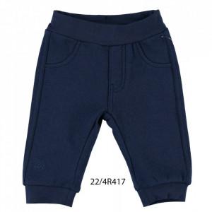 Pantalon de trening din bumbac vatuit IDO bleumarin