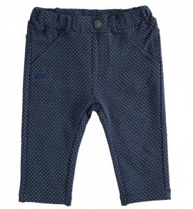 Pantaloni baieti ido bleumarin cu buline albe