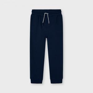 Pantaloni de trening din bumbac Mayoral de baieti bleumarin