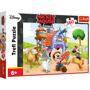 Puzzle Trefl Disney Mickey Mouse, Mickey fermier 160 piese