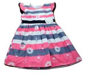 Rochie din poplin, multicolora