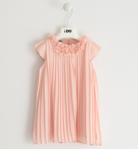Rochie eleganta , Ido , plisata , somon