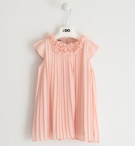 Rochie elegată, plisată, somon, iDO