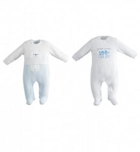 Salopeta bebe baiat nou nascut IDO din bumbac