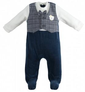 Salopetă costumaș bebe băiat nou născut, IDO