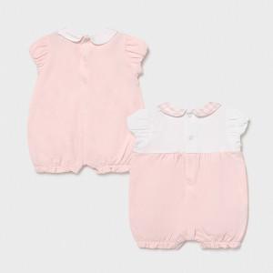 Salopeta cu maneca scurta pentru nou nascut fetita
